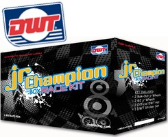 "ENS. ROUES DE COURSE DWT ""CHAMPION IN A BOX"" VTT JUNIOR - 10X5 (4+1) 4/144 Rolled Lip, 8X6 4/110 Rolled Lip"