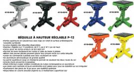 SUPPORT A HAUTEUR RÉGLABLE (STAND) P-12, MOTORSPORT PRODUCTS